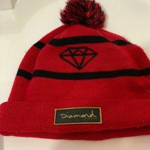 Red & Black 'Diamond Supply co.' Beanie